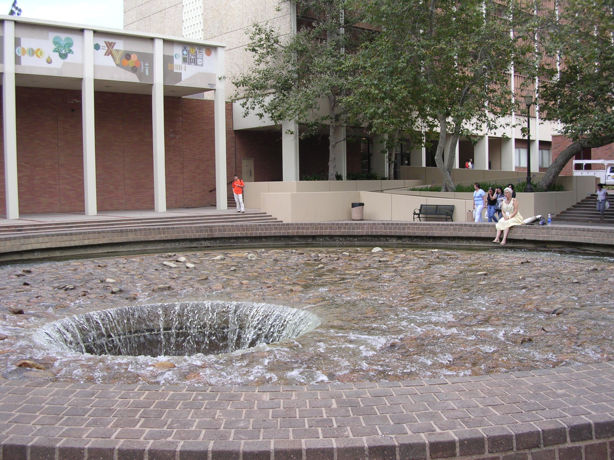 Ucla Campus Map Inverted Fountain